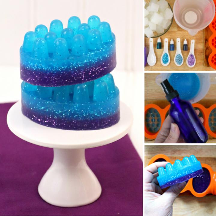 DIY Mermaid Massage Soap