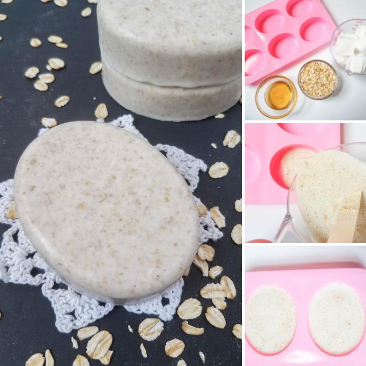 Homemade Oatmeal and Honey Soap