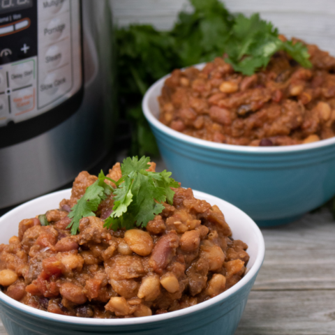 Instant Pot Beans and Beef