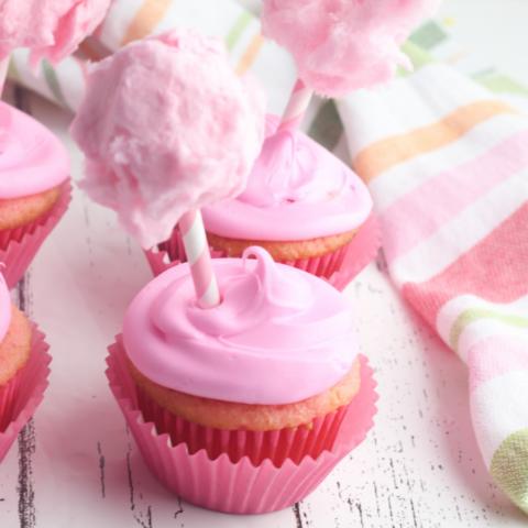 Cotton Candy Cupcakes Recipe