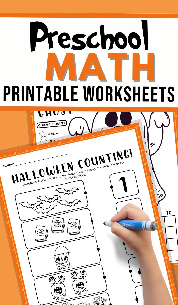 Preschool Halloween Math Worksheets
