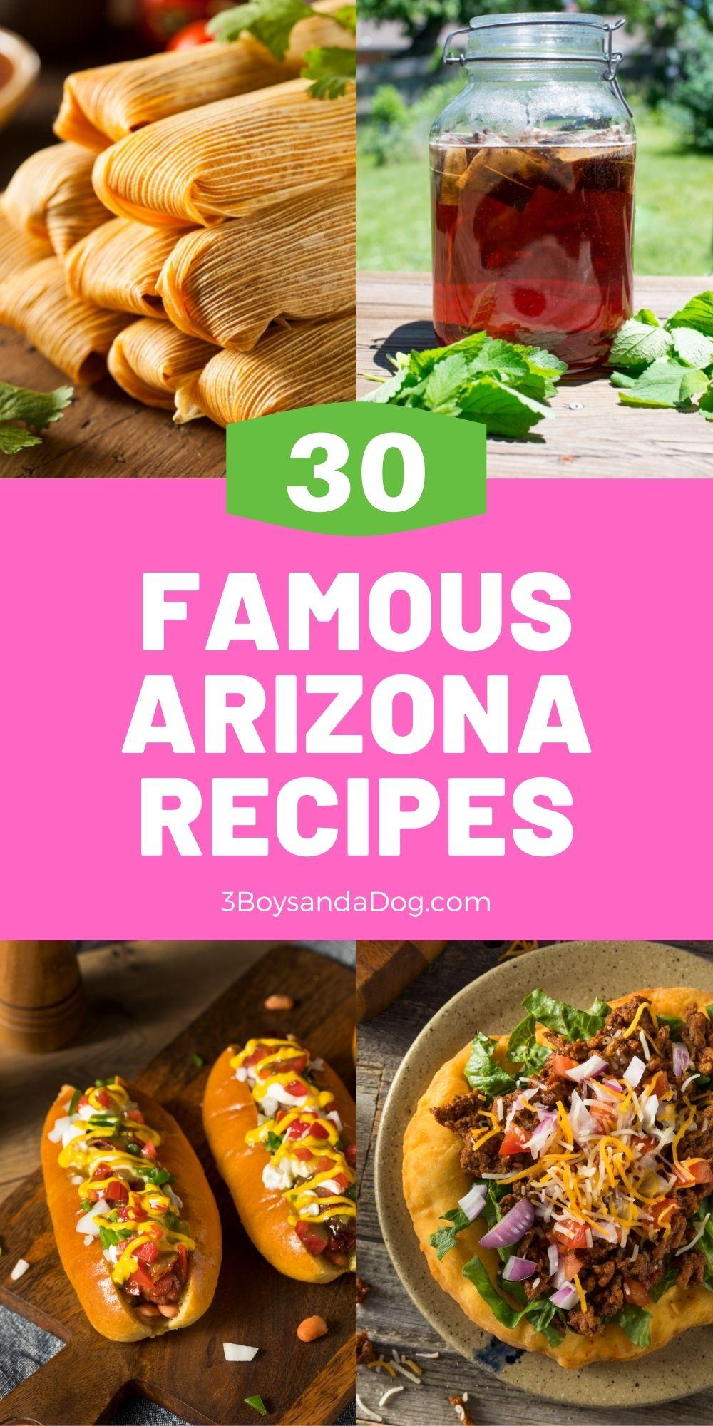 pin of famous Arizona foods